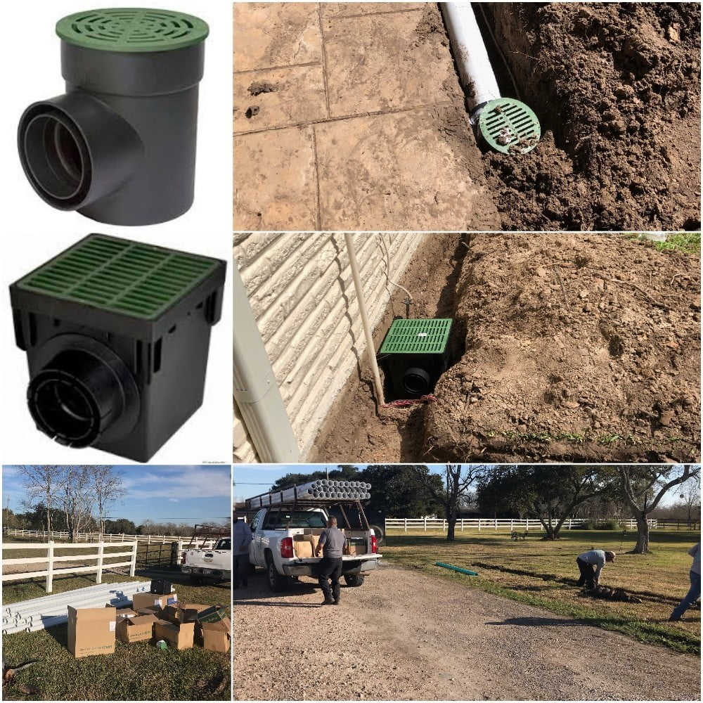 Landscape Catch Basin Drain System Houston