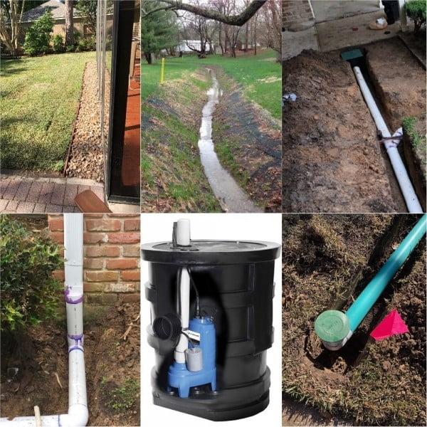 landscape drainage system houston