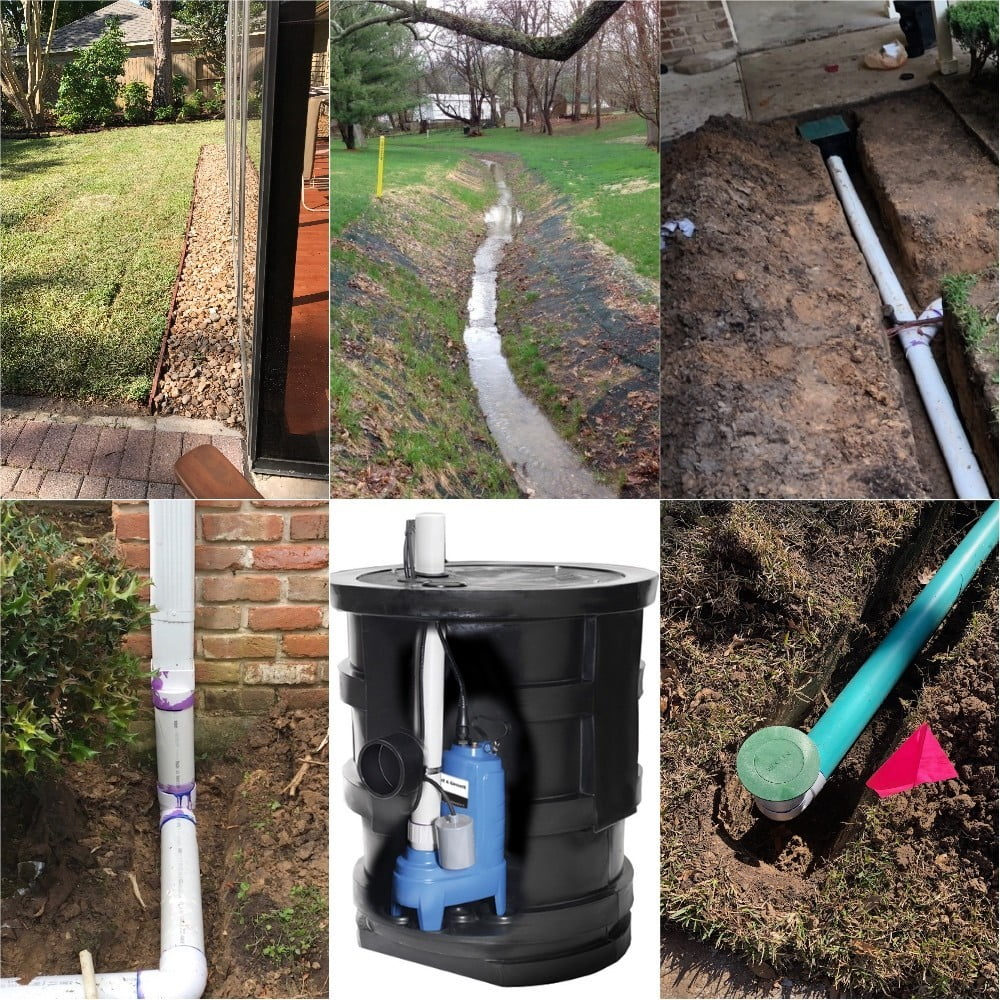 landscape drainage system houston
