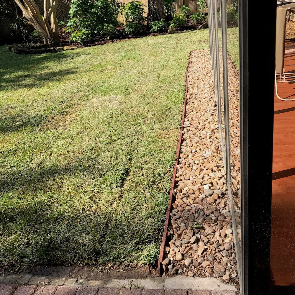 french drain installation 77057