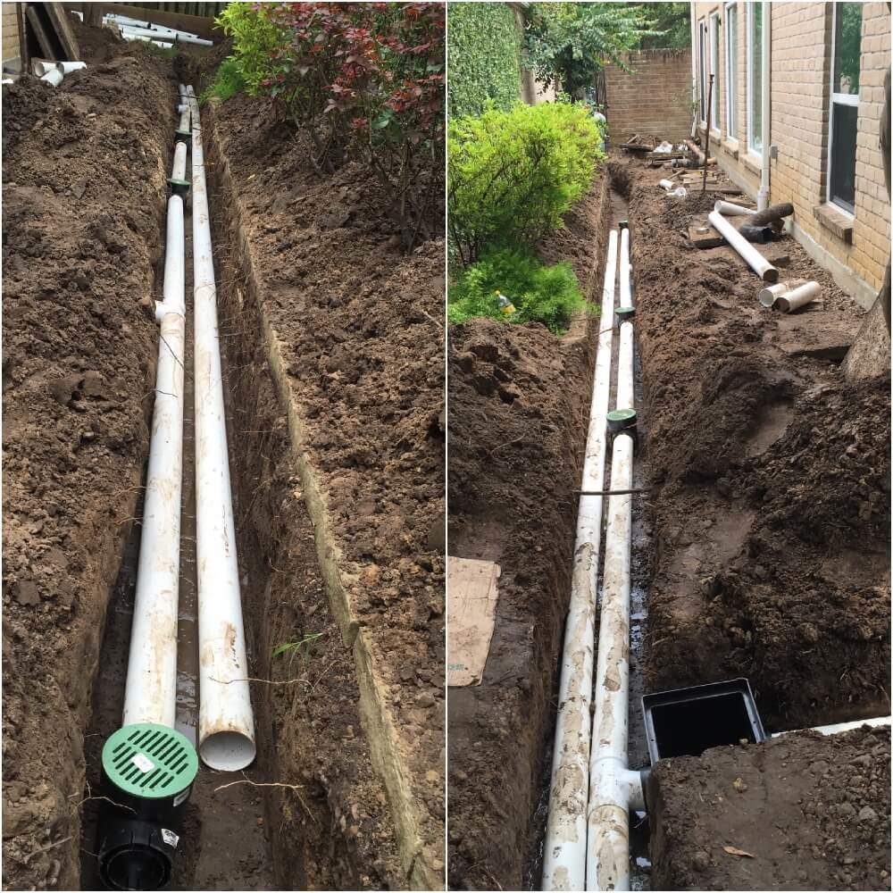French Drain Installation- Landscape Drainage
