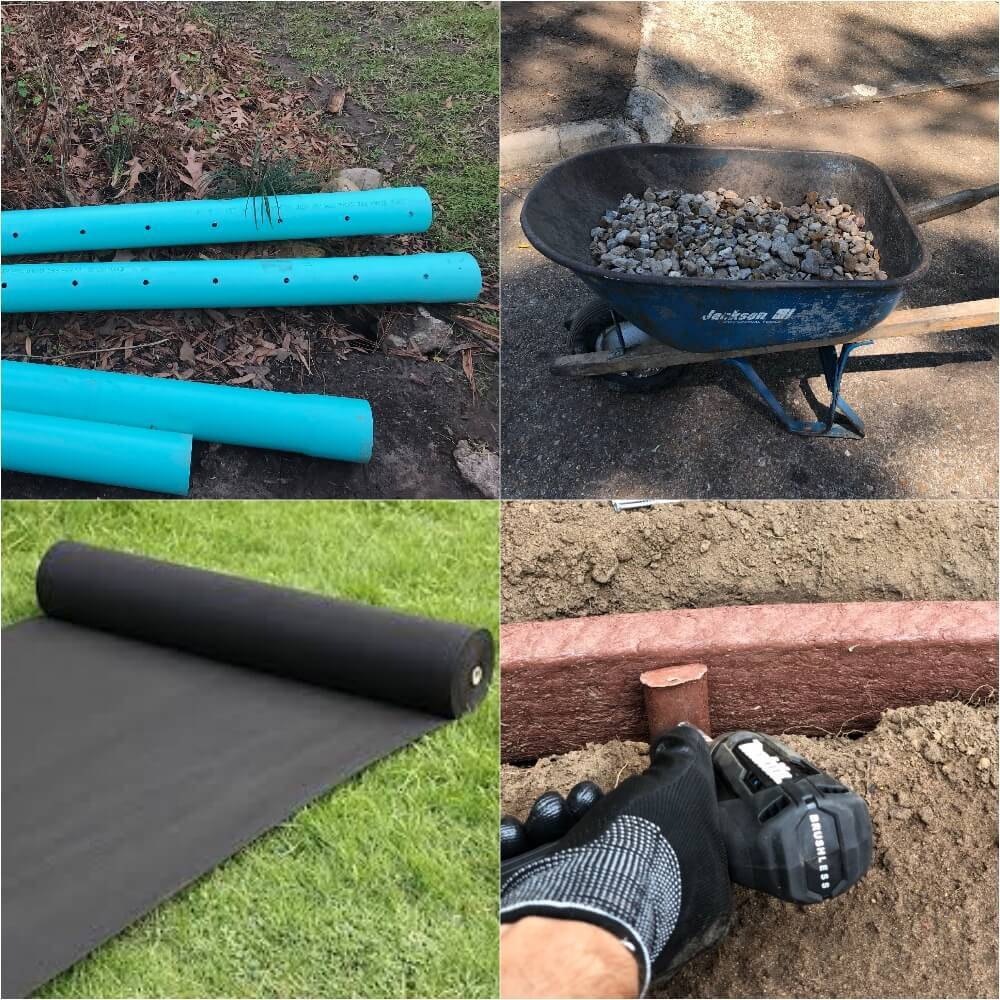 french drain system material 77024