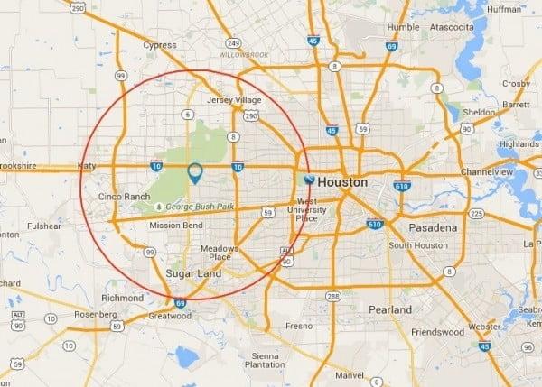 houston landscape pros service area map