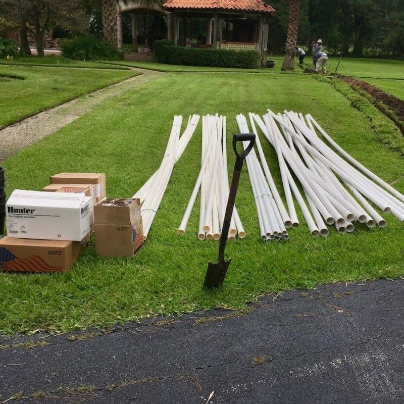 Lawn Sprinkler PVC Pipes