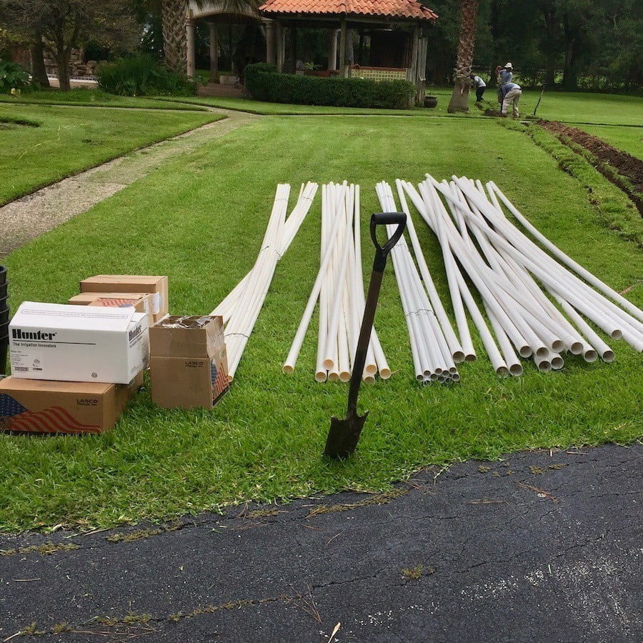 Lawn Sprinkler PVC Pipes- Houston 77042