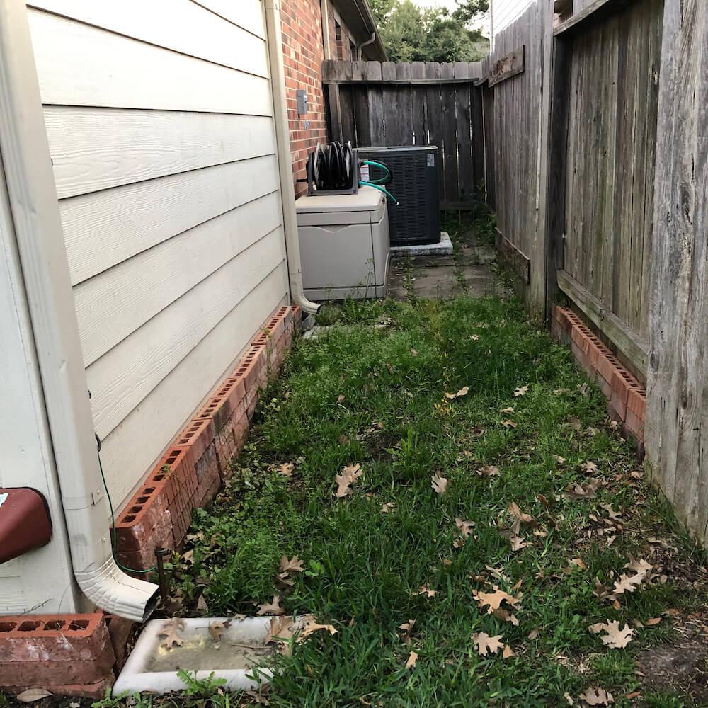 storm drain before
