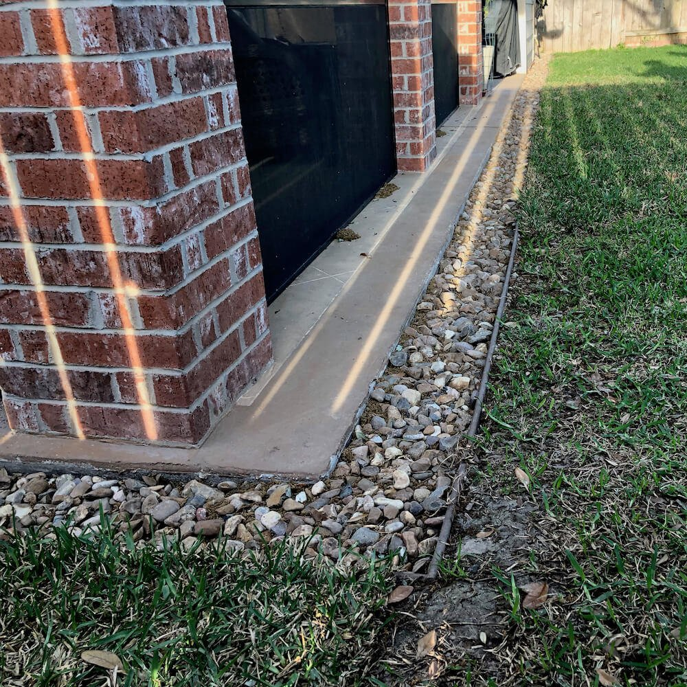 finich installation french drain