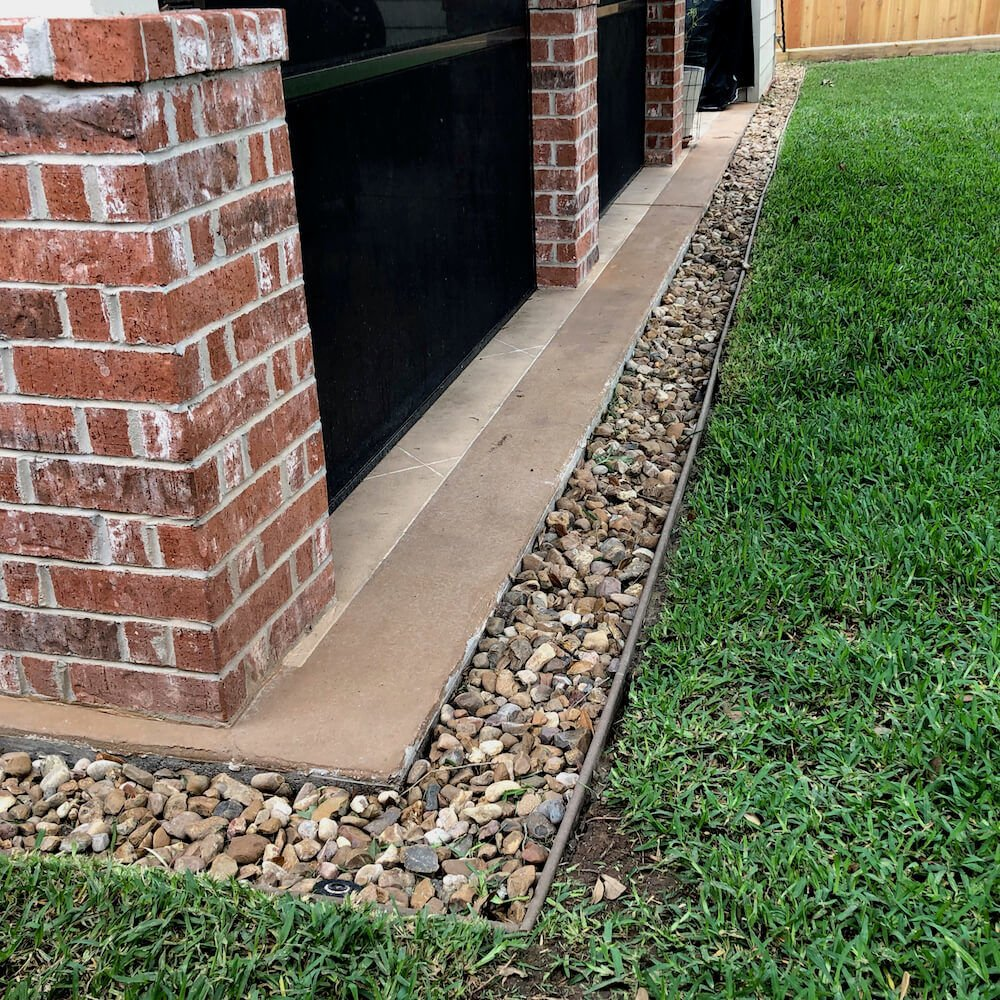 french drain after