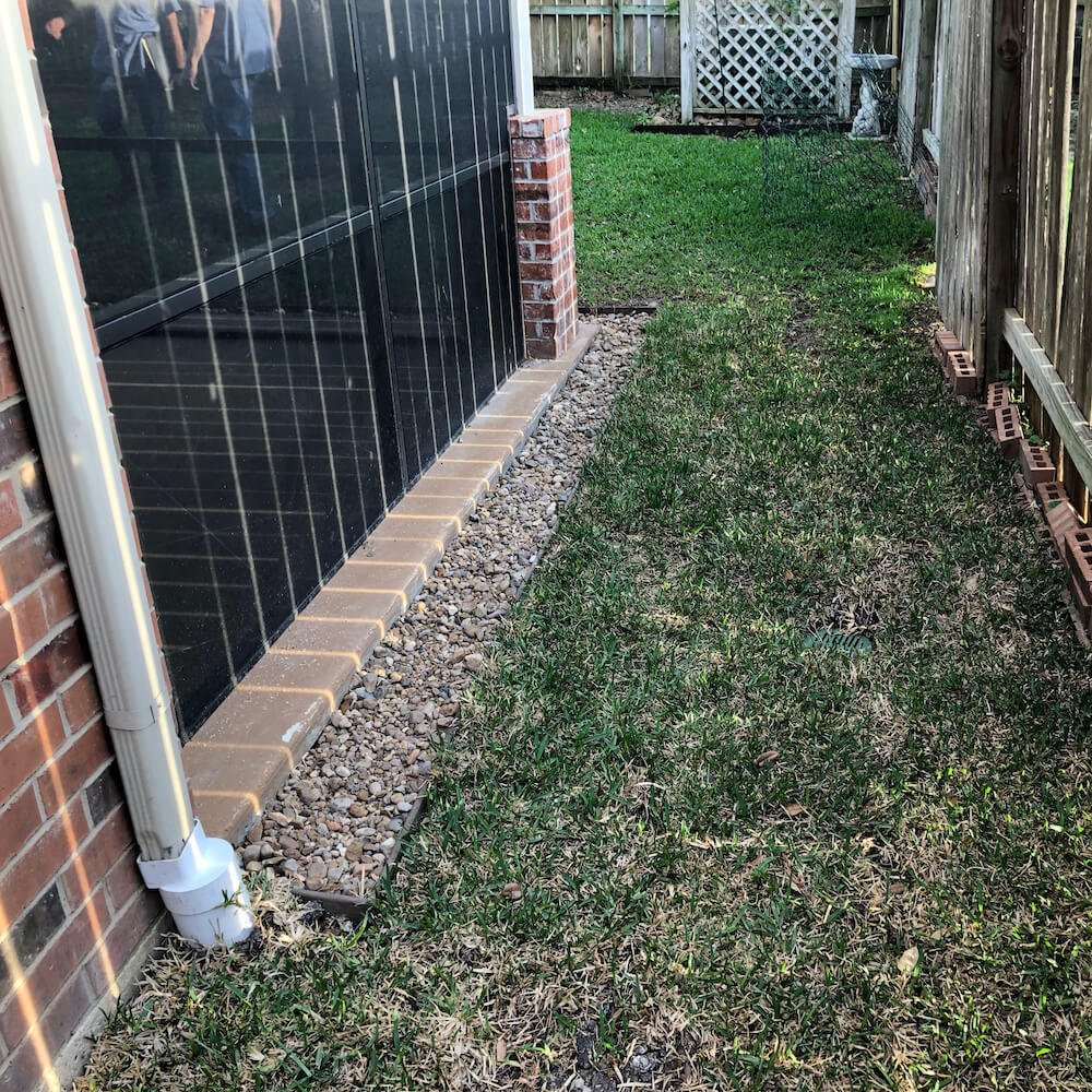 french drain back yard