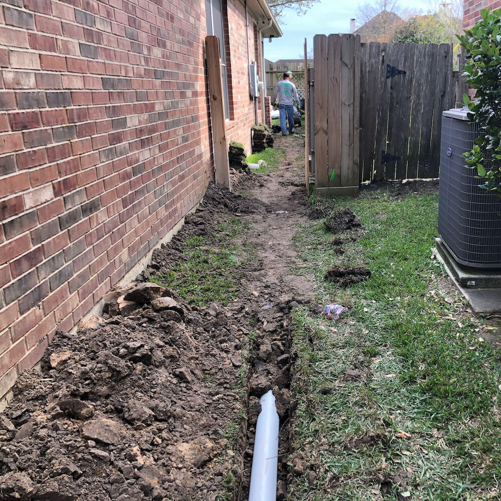 french drain & catch basin drain
