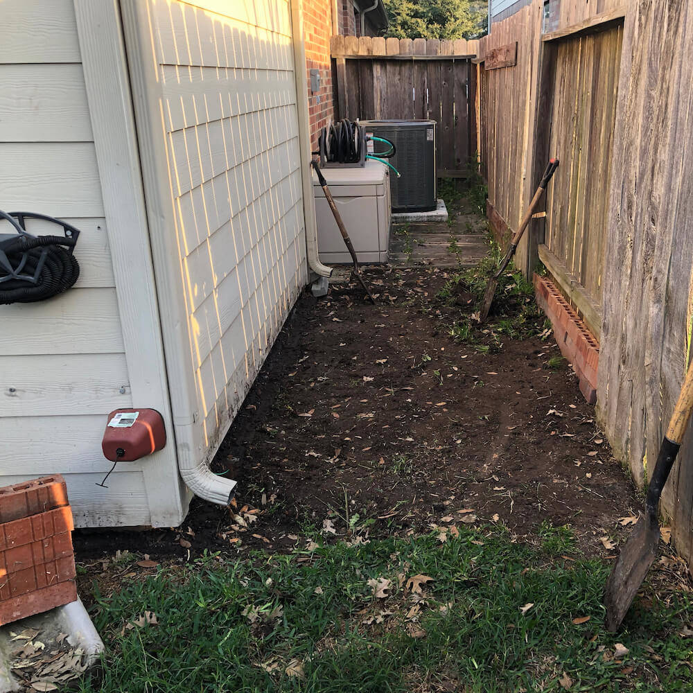 french drain level & grading