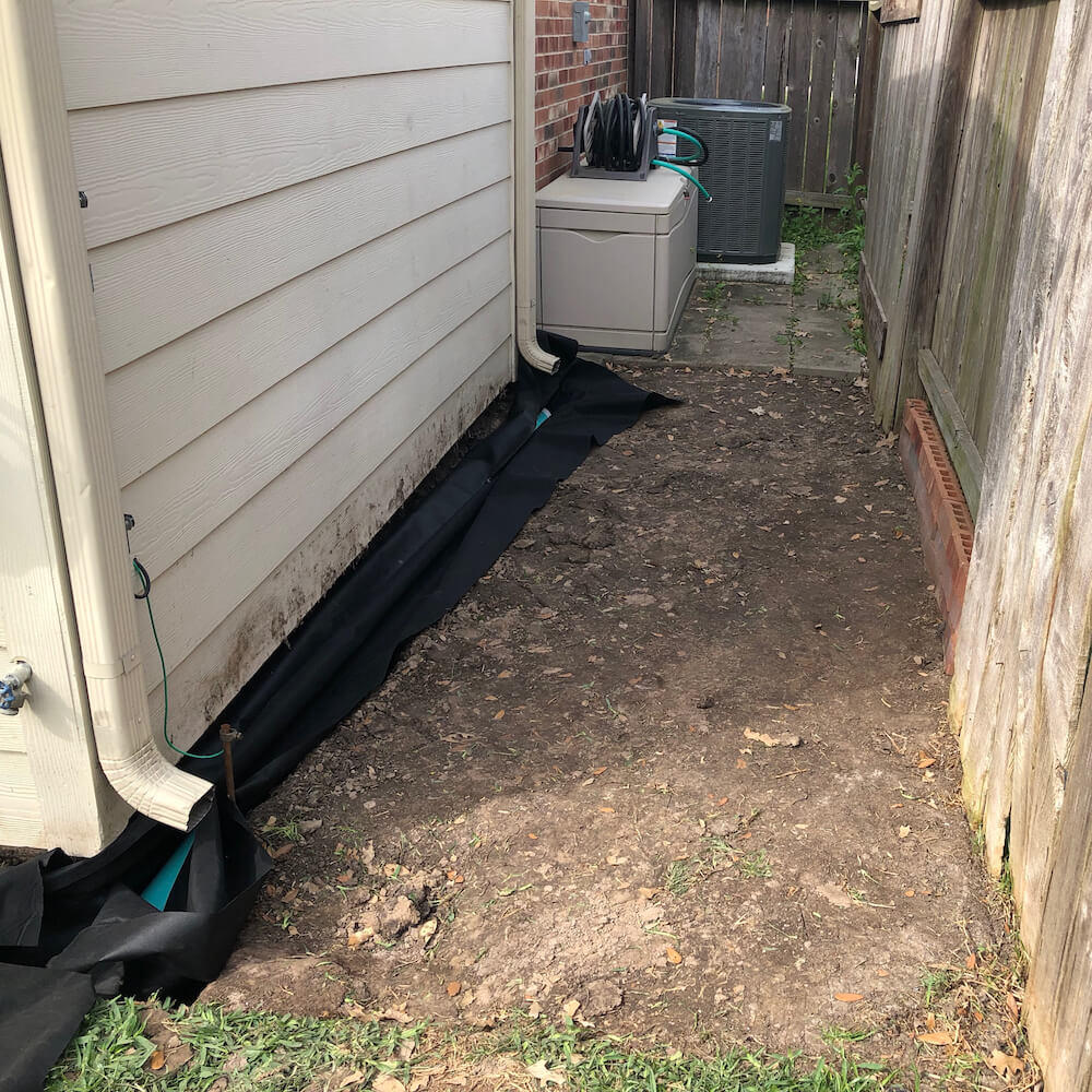 french drain part 3 Houston