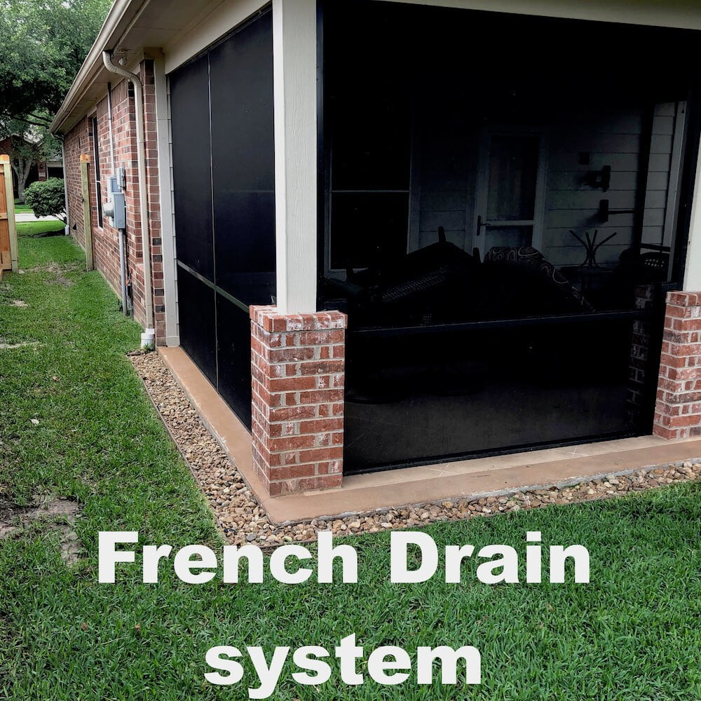 french drain picture gallery houston