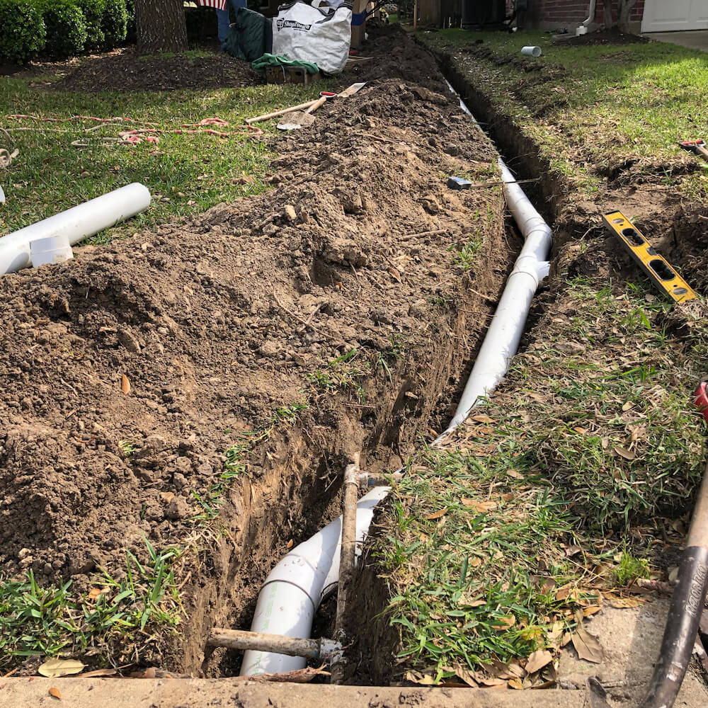 French Drain Pipes Houston