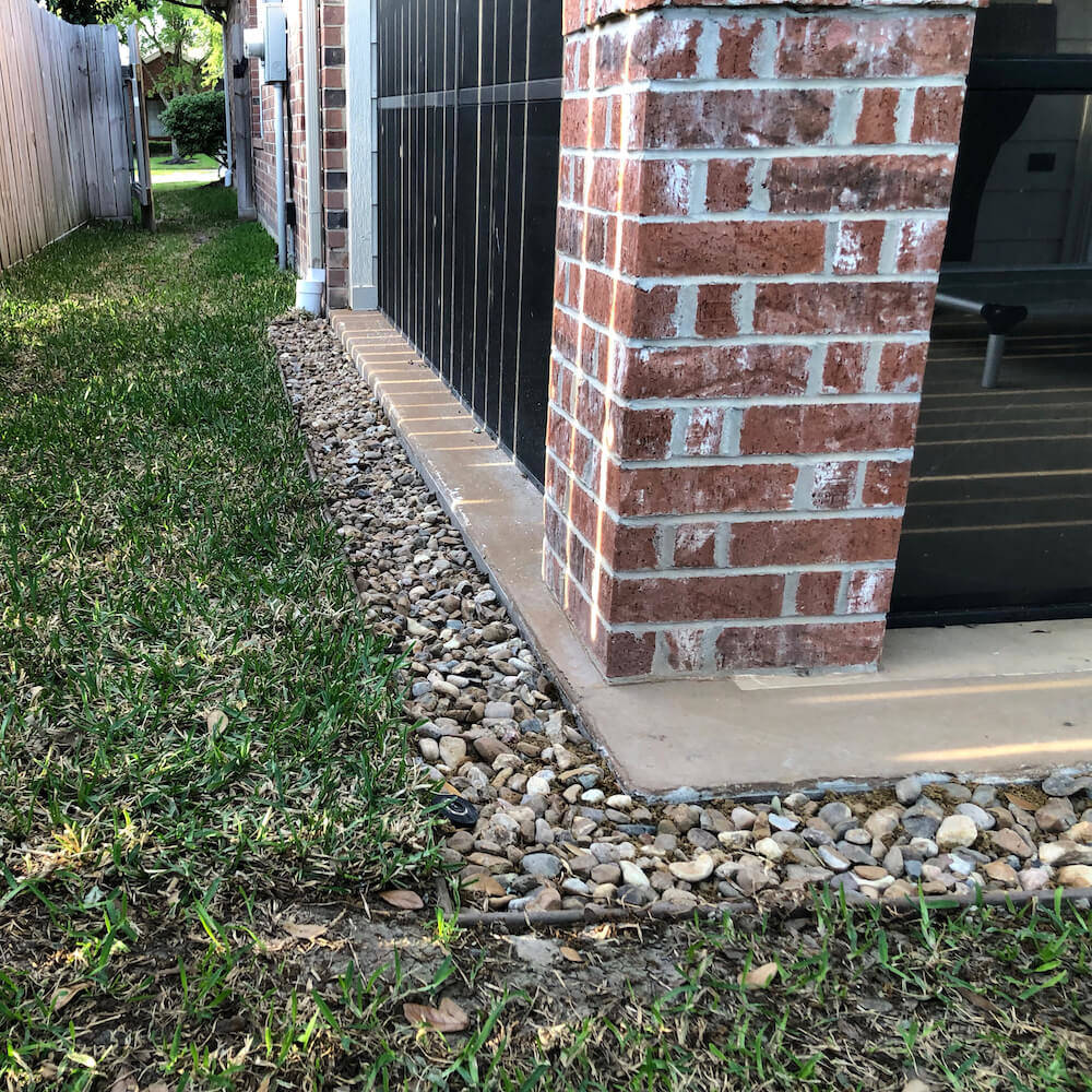 french drain system 77095