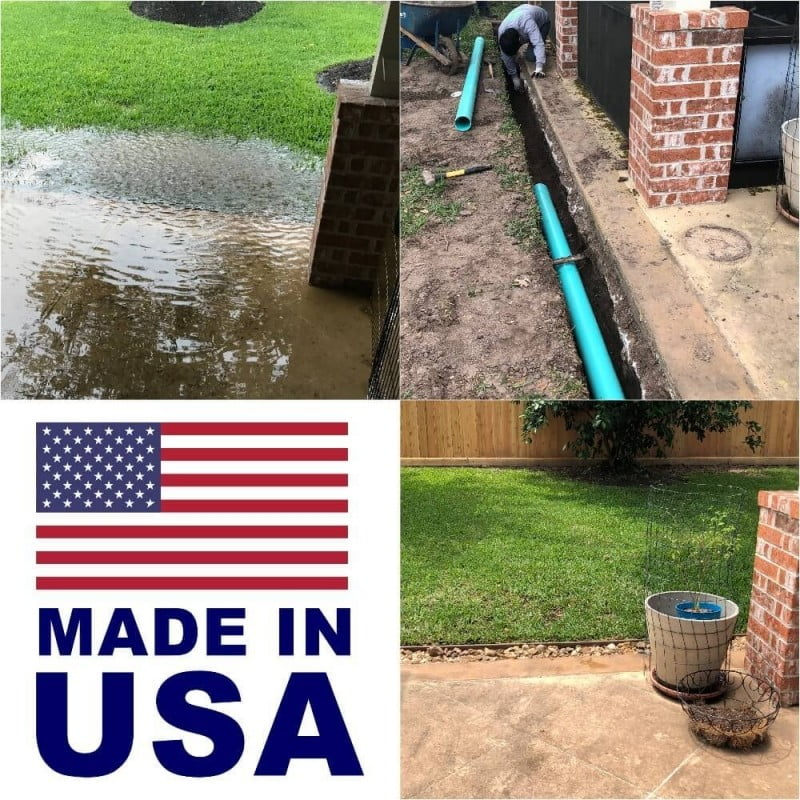 french drain system installation 77024