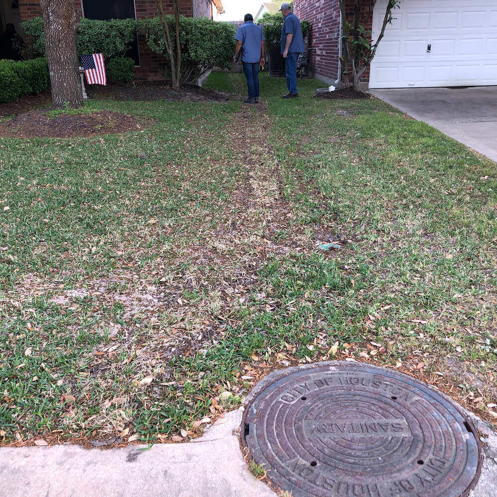 landscape drainage months after
