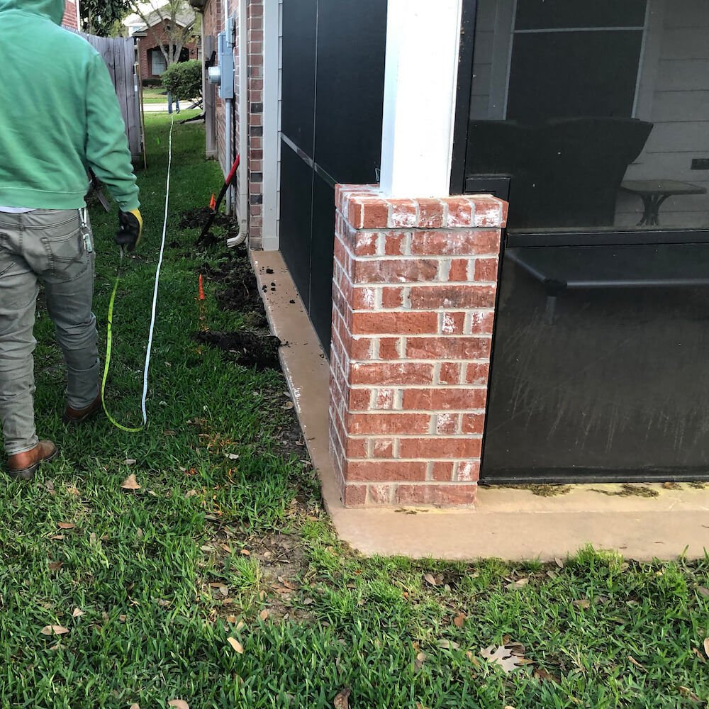 landscape drainage side yard houston