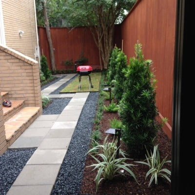 bacl yard landscaping after houston