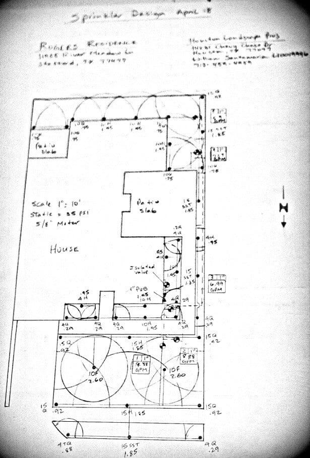 lawn spinkler installation design 77042