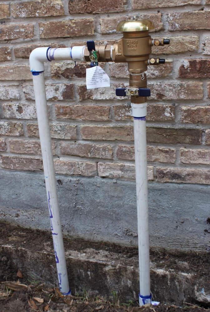 lawn sprinkler back flow device 77042