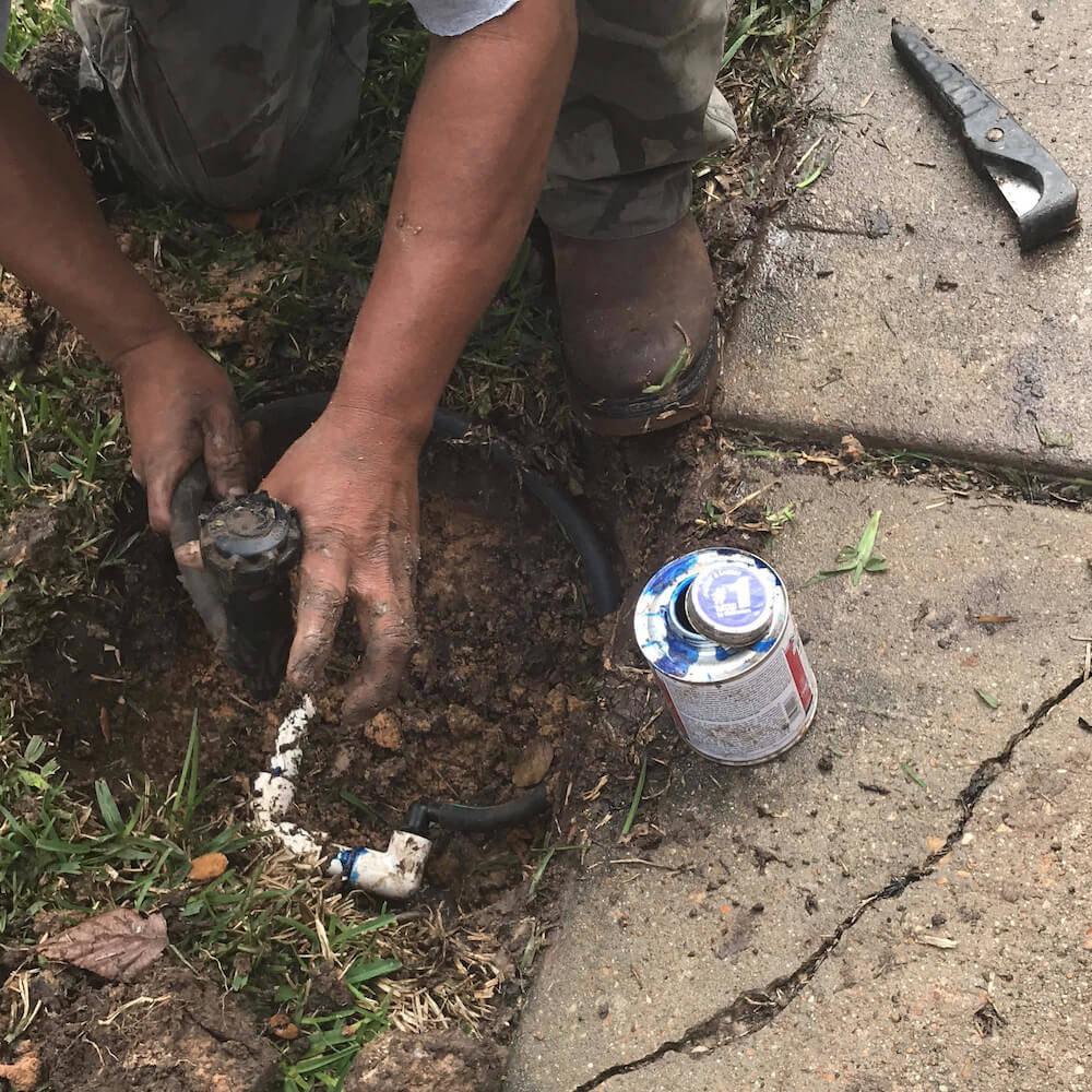 sprinkler head repair 77498