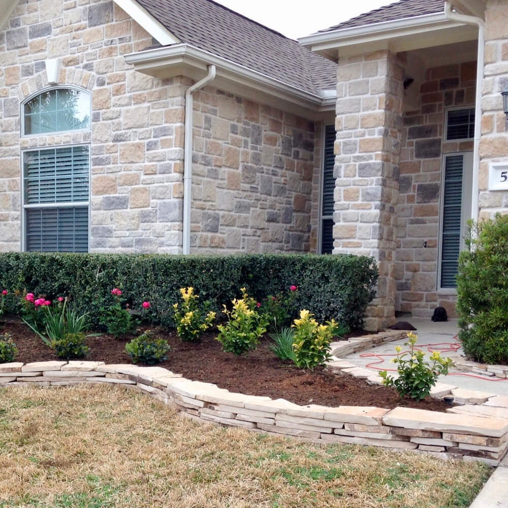 landscaping edging flagstone paver border katy tx