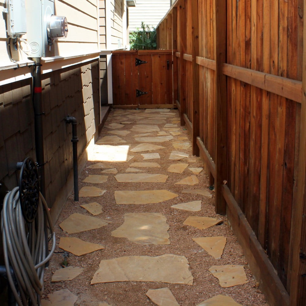 paver- lagstone side yard houston