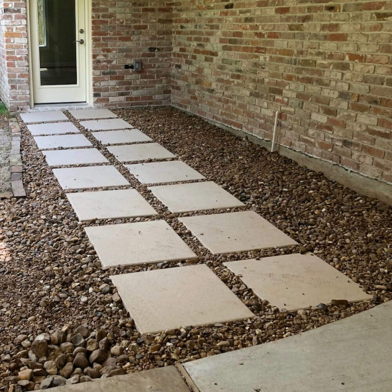 landscape flagstone paver walkway houston katy richmond