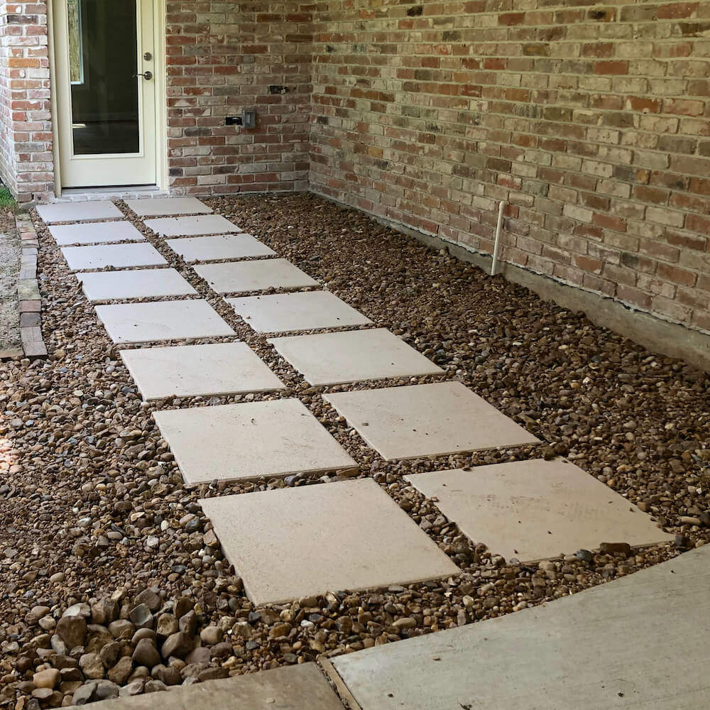 pavers concrete step in stones 77024