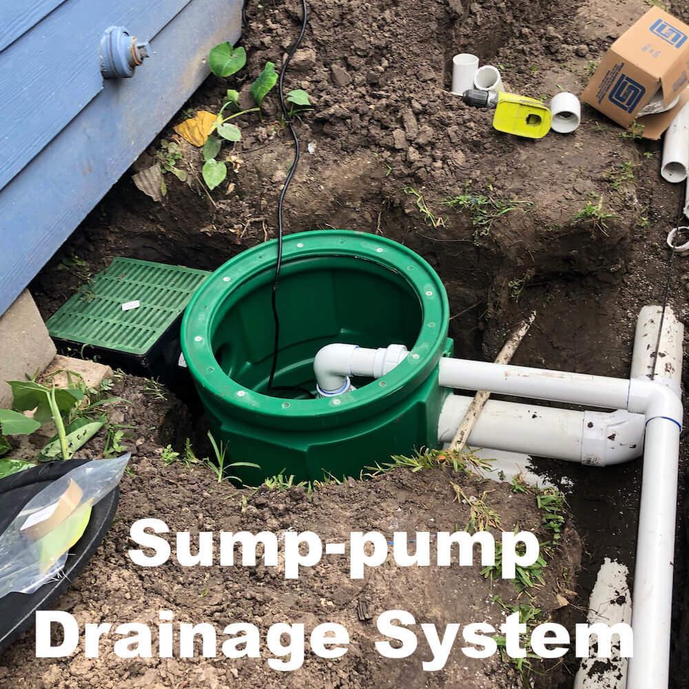 sump pump drainage system