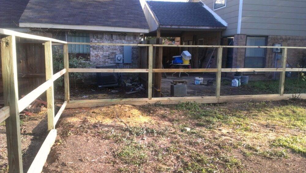 wood fence katy tx