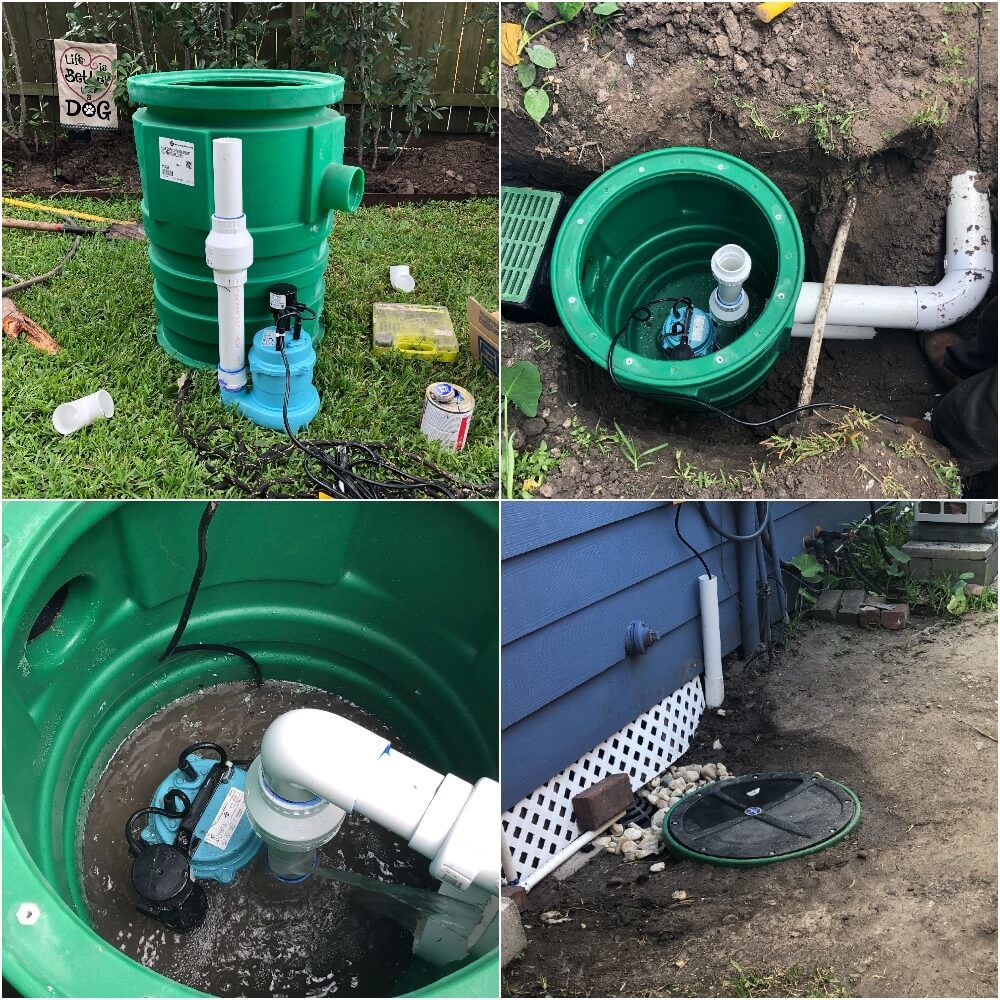 Sump Pump Drainage System Houston Landscape Pros Katy Bellaire Tx