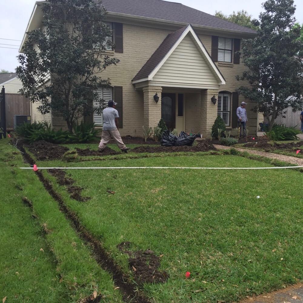 lawn sprinkler system pictures front yard houston landscape pros
