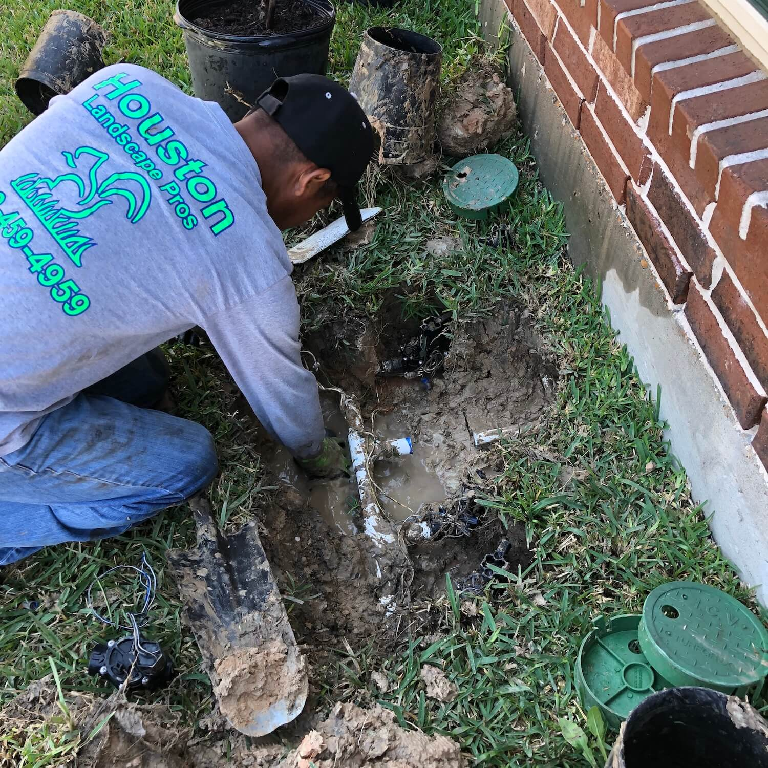 Sprinkler Repair Houston Landscape Pros- 77024