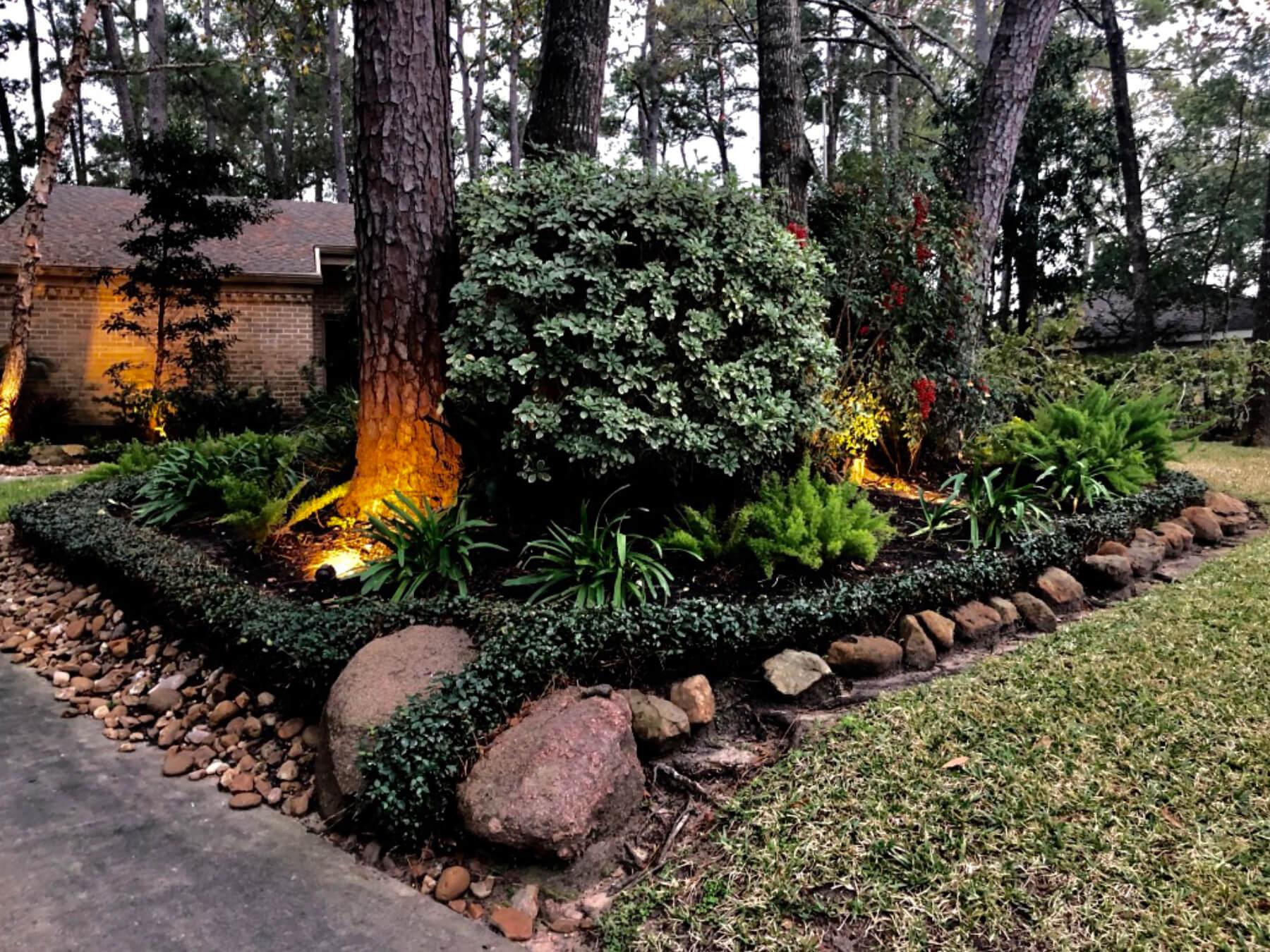 Landscape lighting Houston