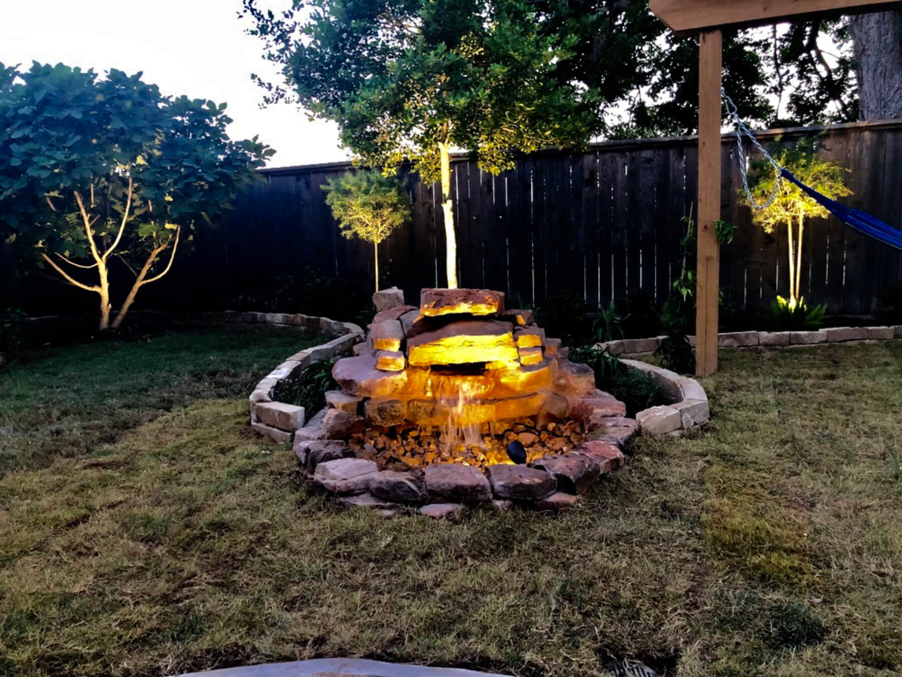 Houston landscape lighting