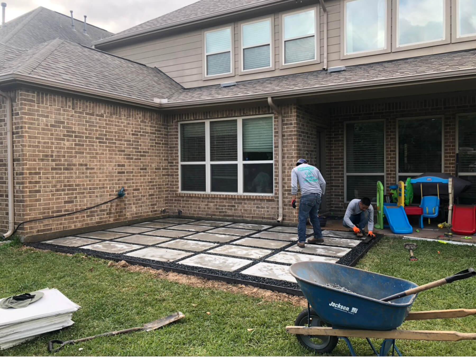 Concrete Paver Install