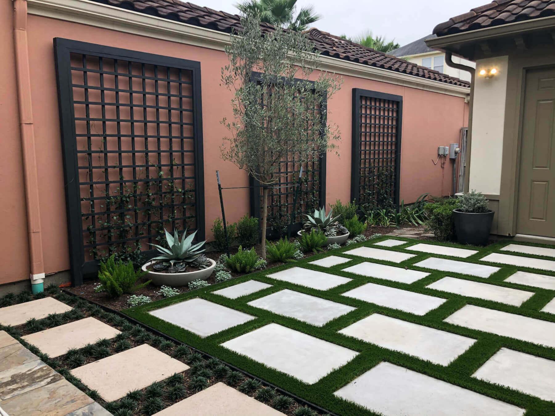 artificial grass landscape houston patio 77042